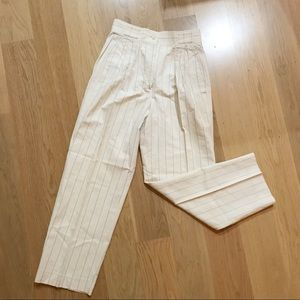 """Pants - Vintage Crisca very high waisted striped pants 28"""""""